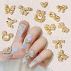 Pearl Alloy Jewelry Bowknot Tie Nail Art Jewelry Bow Tie Pendant Nail Decoration