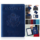 USA Travel Passport ID Card Wallet Holder Cover RFID Blocking Leather Purse Case