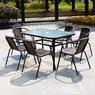2/4/6 Person Garden Furniture Patio Set 150cm Table, Chairs & Parasol Hole Table