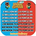 ACNH:Bells, Nook Miles Tickets, Fish baits, all custom items Fast Delivery