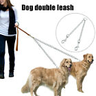 Chew Proof Metal Chain Extension Dog Double Leash 2 Way  Free Training US