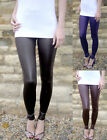New WET LOOK Leggings   LONG LENGTH  SIZES 6 - 18  Tall