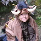 Fab Furry Brown Monster Costumes Horns Ears Spikes