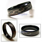 7MM MEN'S BLACK TUNGSTEN ENGRAVED CELTIC BAND RING