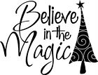 Believe in the Magic Wall Lettering Sticker Vinyl Word