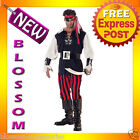 C153 Cutthroat Pirate Buccaneer Mens Fancy Dress Adult Costume M L XL XXL