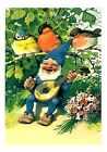 Colorful Gnome Entertains Birds Quilt Block Multi Sizes FrEE ShiPPinG WoRld WiDE