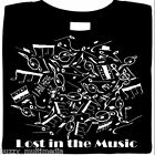 Lost In The Music, graphic shirt, gift, musician, art