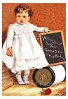 Sweet Willimatic Thread Card Girl Quilt Block Multi Szs