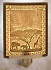 Lithophane Night Light - African Sunset  Fine Porcelain