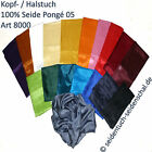 Silk scarves unicolor, choose 1 pc between 20 colours