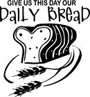 Daily Bread Christian Wall Decal Letter Stickers Vinyl