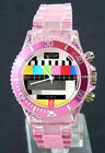 Prince London TV test card toy style transparent watch
