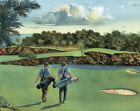 Golf Course Golfing Mural Style Pre-Pasted Wallpaper Wall Border ~ Size Choice
