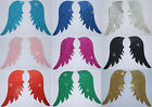 FABRIC GLITTER ANGEL FAIRY WING A IRON-ON HOTFIX TSHIRT TRANSFER APPLIQUE PATCH