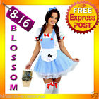 E60 Ladies Wizard of OZ Dorothy Halloween Fancy Dress Costume Outfit
