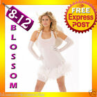 8200 Ladies White Angel Fancy Dress Costume Incl Wing