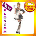 C314 Le Belle Harlequin Jester Masquerade Fancy Dress Halloween Ladies Costume