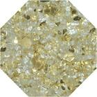 "Gold Reflective 1/4"" Fireglass Fire Glass Fire Pit Fireplace Glass Crystals"