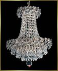 "Crystal Chandelier - 4575E12 - 12""W x 14""H - World Class Lighting"