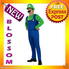 C65 Mens Licensed Mario Luigi Adult Fancy Costume S M L
