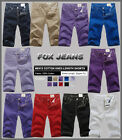 NEW MENS FOXJEANS KNEE-LENGTH COLORED SHORTS-10 Colours