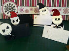 Jack Skellington style Christmas Place cards Handmade to make your table special