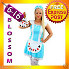 F31 Alice in Wonderland Ladies Disney Fancy Dress Up Party Halloween Costume