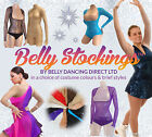M PROFESSIONAL BELLY DANCE COSTUME SLEEVED BODY STOCKING UNDERBUST MIDRIFF COVER