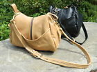 New Handmade in USA Leather Tear Drop Shaped Purse Handbag Shoulder Bag