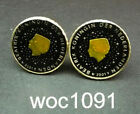 Netherlands enamelled coin cufflinks  or button covers Queen Beatrix