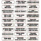 Dog Signs for Dog Owners 17cm x 4cm  Large Selection