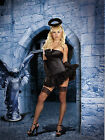 Sexy Adult Halloween Gothic Dark Angel Costume w Feathered Wings