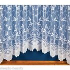 WHITE, BUTTERFLY JARDINIERE NET CURTAIN, MANY SIZES, FREE P&P TO UK