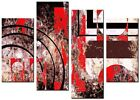 NEW LARGE MODERN CANVAS WALL ART ABSTRACT PICTURE  PRINTS ART MOUNTED MALIBU RED