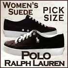 POLO Ralph Lauren BROWN Suede Leather Sneaker Trainers Shoes US Women Pick Size