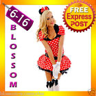 F51 Ladies Minnie Mickey Mouse Fancy Dress Halloween Disney Theme Costume & Ears