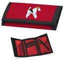 Wire Haired Fox Terrier Wallet Embroidered by Dogmania