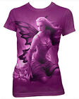 Darkside Clothing Pixie Wings Magical Purple Fitted Short Sleeved Tshirt
