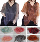 1 Oblong Evening Shawl Scarf Wrap Two Toned Layer SHEER See-through Leopard 6Clr