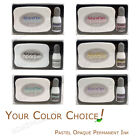 STAZON OPAQUE multi-surface solvent INKPAD, PASTEL/WHITE permanent ink stamp pad