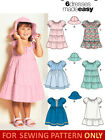 SEWING PATTERN! MAKE GIRL DRESS W/ TIERED SKIRT~HAT!  SIZES 1/2 TO 4! EASY!