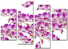 NEW LARGE MODERN CANVAS ART ABSTRACT PICTURE WALL QUALITY PRINTS ORCHID 5 PINK