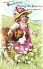 Thread Card Household Girl St. Bernard Multi Szs Applique FrEEShiPPinGWoRldWiDE