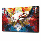 1539 Abstract Great White Shark Canvas Modern Wall Art Print