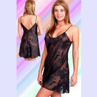 Plus Size Lingerie Sizes 1X  2X  3X 4X 5X or 6X Navy Blue Chiffon Chemise  6002X