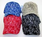 LADIES FLOWERS NEW YORK NY 3D EMBROIDERED BALL CAP SPORT FASHION ADJUSTABLE HAT