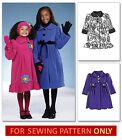 SEWING PATTERN! MAKES FLEECE COAT~HEADBAND! CHILD 3 TO GIRL 14! WINTER CLOTHES