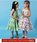 SEWING PATTERN! MAKES RUFFLED SUN DRESS! SUMMER CLOTHES SIZES CHILD 2 TO GIRL 8!
