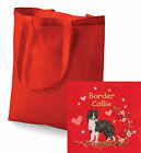 Border Collie Tote Bag Embroidered by Dogmania